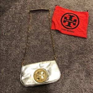 Authentic Tory Burch Gold Metallic Purse